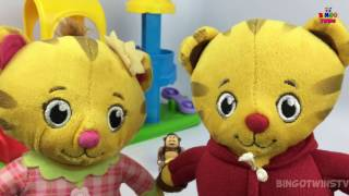 Daniel Tiger pretend play w/ Baby Sister !! Funny Doctor visit and Potty Training Video :))