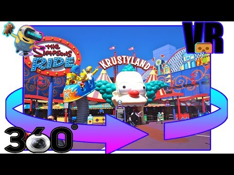 ☺The Simpsons☺ [360°VR] ♥ ROLLER COASTER ♥RIDE KRUSTYLAND♥