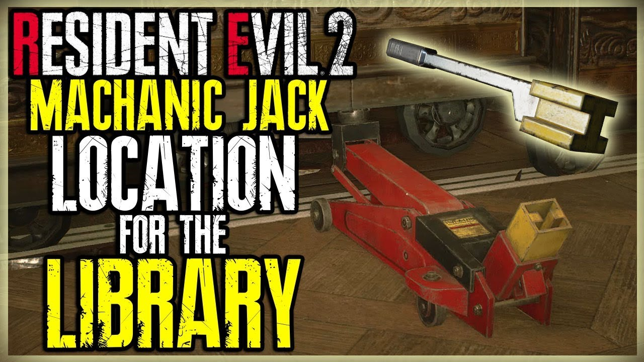 Machanic Jack Location For The Library Books Shelf Resident Evil 2 Remake