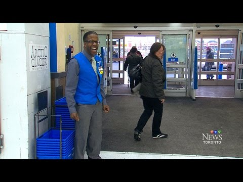 Brampton Walmart greeter entertains shoppers