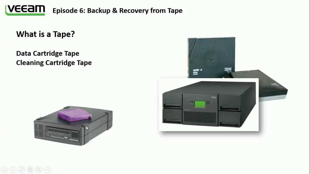 Veeam B&R: Backup & Recovery from Tape - part (1/3)