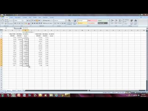 Fractions To Mm Using Excel Minutes