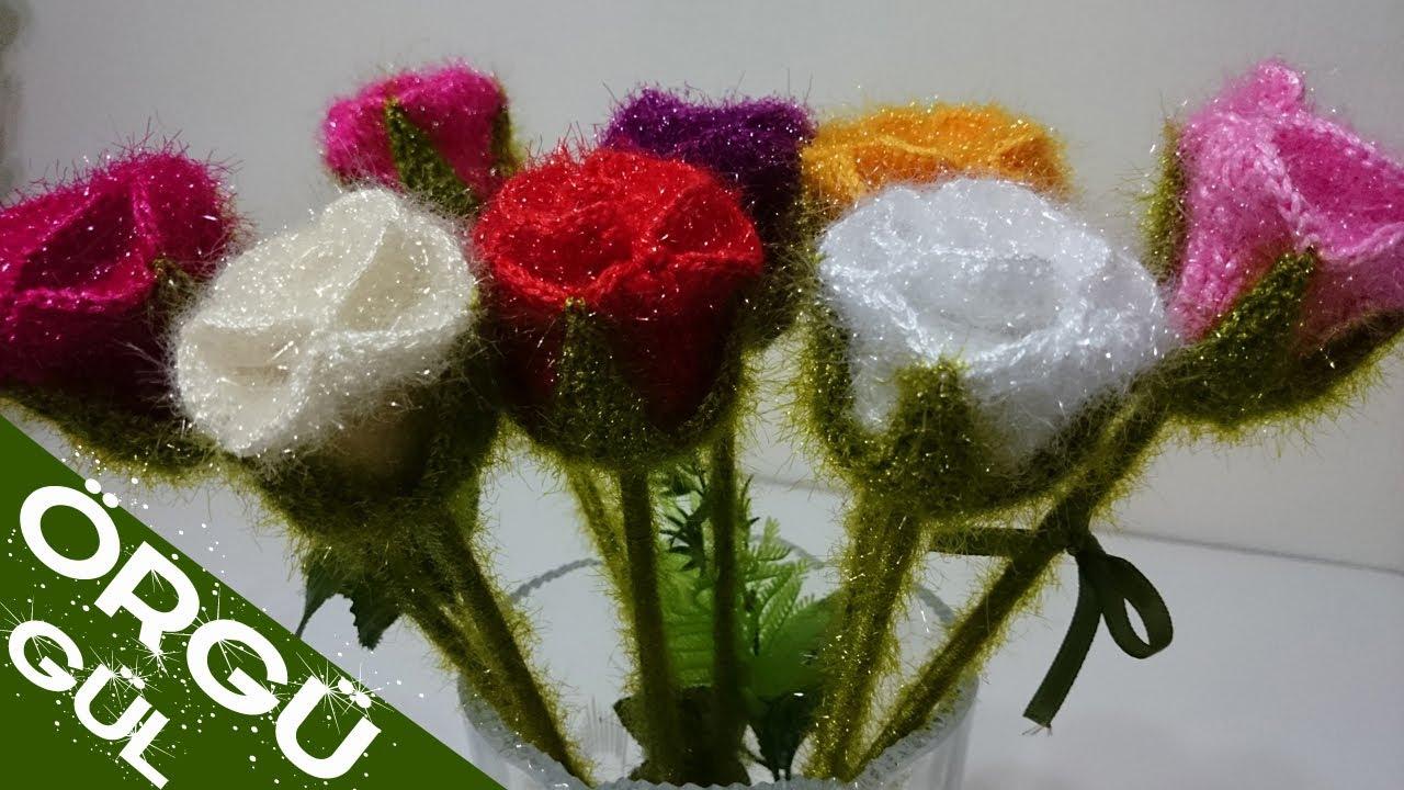 Tig isi cicek yapimi/el isi videolari | Tığ işleri, Çiçek, Tığ işi ... | 720x1280