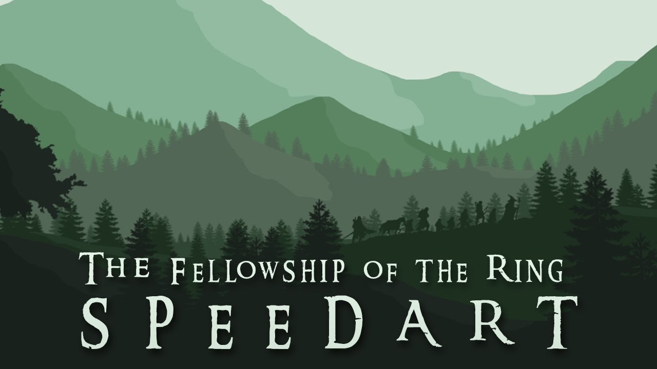 The Fellowship Of The Ring Wallpaper Speedart Photoshop Youtube