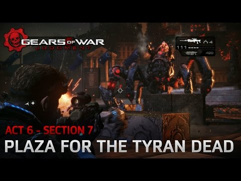 Gears of War: Judgment - The Courthouse - Section 7: Plaza for the Tyran Dead - Boss Fight: Karn