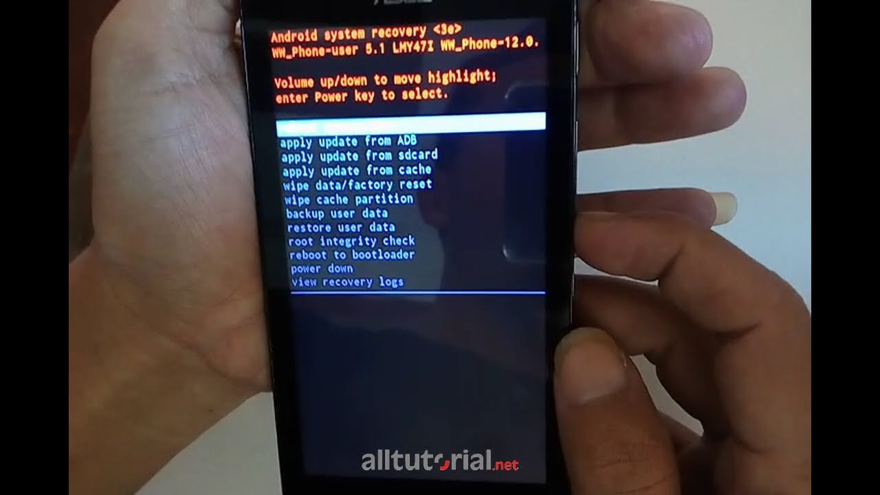 Cara Hard Reset Asus Zenfone Go Z00sd Youtube