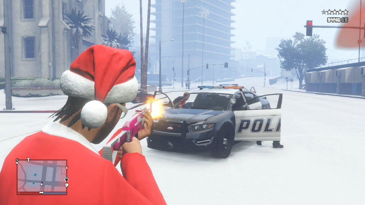 GTA 5 Santa Rampage! Merry Christmas!!! (GTA Online Christmas ...
