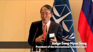 Minister Karl Erjavec & Judge Sang-Hyun Song | Crime of Aggression Seminar Press Conference May 2014