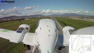 DA 42 NG Demonstration Engine Failure during Take-off