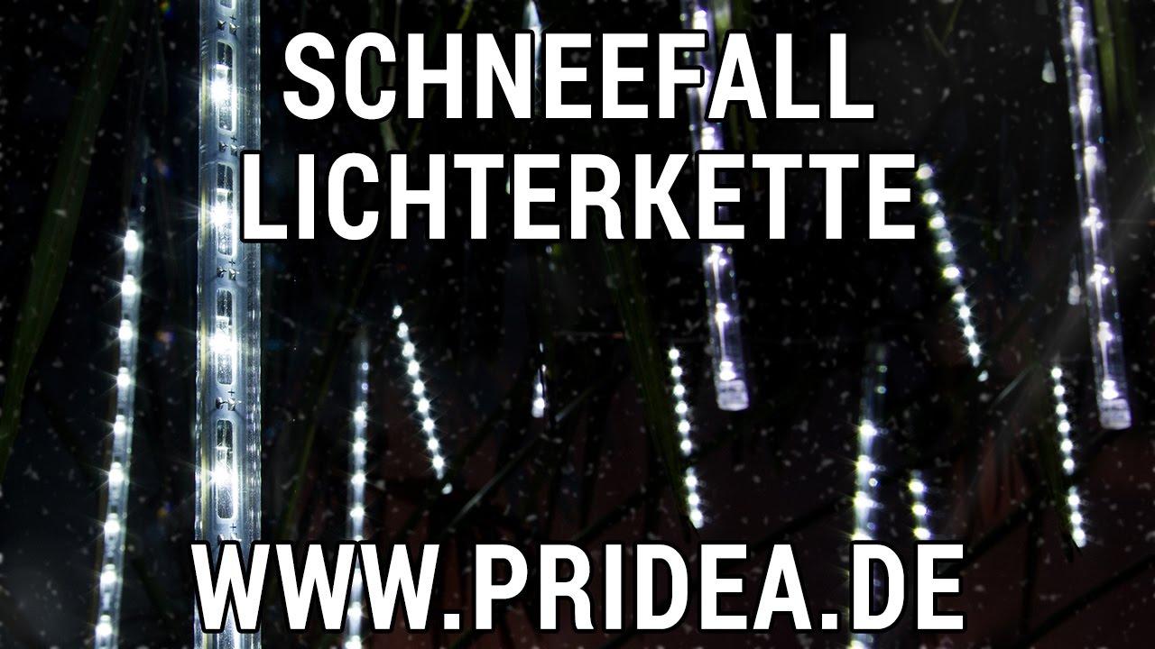 Weihnachtsbeleuchtung Aussen Schneefall.Schneefall Lichterkette Mit 20 Led Effekt Röhren Simulierter Schneefall