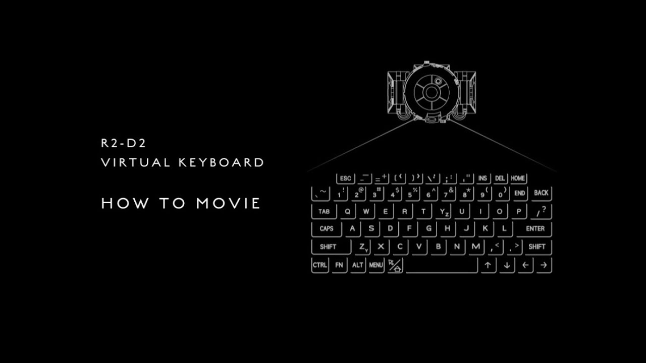 Imp R2 D2 Vertual Keyboard How To Movie Youtube