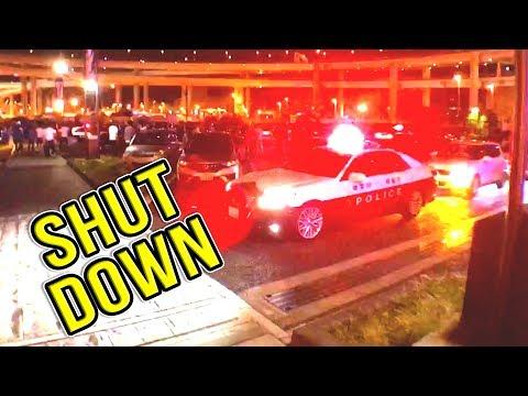SHUT DOWN BY JAPANESE POLICE - Daikoku Futo PA Car Meet