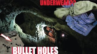 Underwear and Bullet Holes in Haunted Abandoned Mine | Something is Following Us!