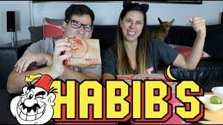 Experimentando comidas do Habib's. Hambúrguer de Kafta e outras coisas.