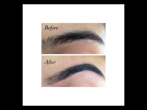 How to shape and tweeze your eyebrows yourself! - YouTube