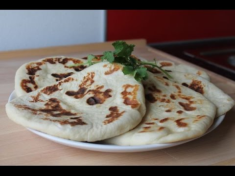 Indisches Naan Brot Selber Machen || Homemade Indian Naan Bread || [ENG SUBS]