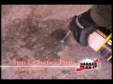 Roll-On Rock Epoxy Floor Coating - Step 1: Surface Prep