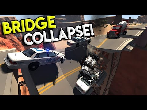 HUGE BRIDGE COLLAPSE & POLICE ROADBLOCK!