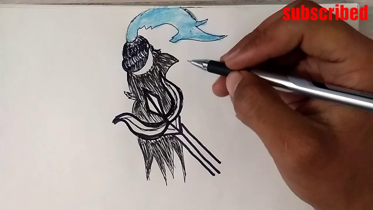 Lord shiva face drawing step by step lord mahadev angry face sketch