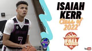 6'3 CG Isaiah Kerr - DIFFERENT 2022 - St Francis Hs - WCE Utah Fall Classic