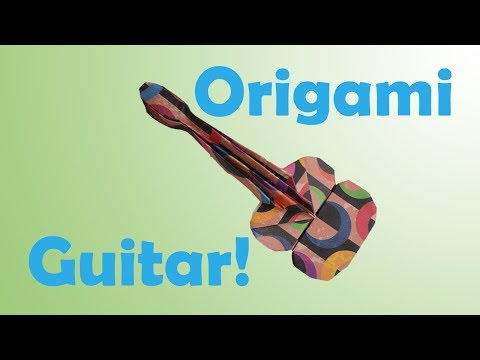 How to Fold an Origami Guitar / Ukulele