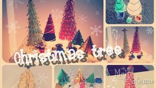 Diy: Christmas Tree From Magazine / Origami
