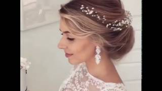 видео Свадебные прически с фатой в 2015 году
