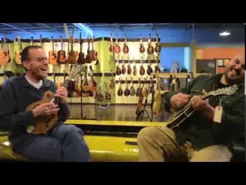 Carter Vintage Guitars- Adam Steffey and Frank Solivan on Elkhorn Mandolins