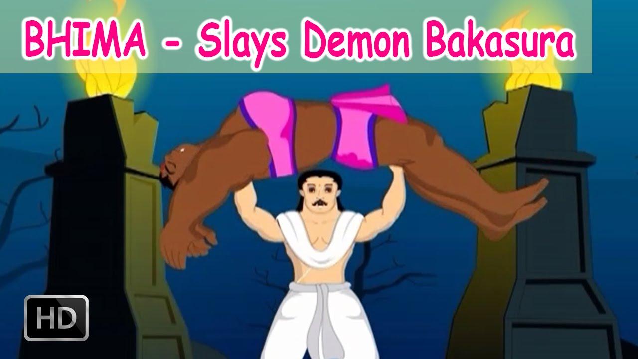 Bhima Stories  Bhima Slays Demon Bakasura  Youtube