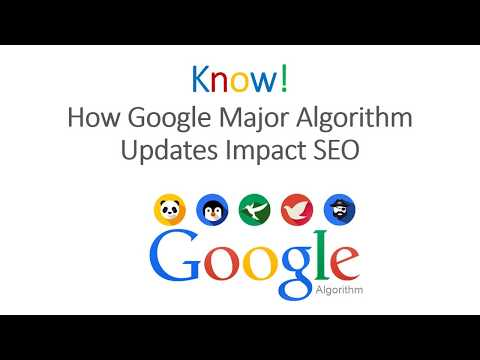 Know! How Google Major Algorithm Updates Impact SEO