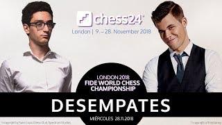 Desempates del Campeonato del Mundo de Ajedrez 2018: Magnus Carlsen - Fabiano Caruana
