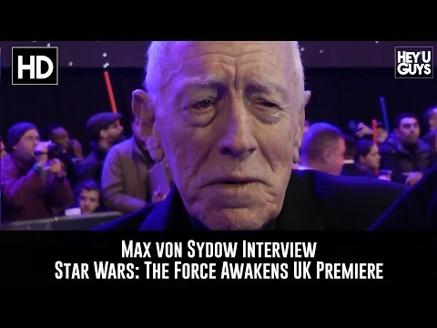 Max von Sydow Premiere : Star Wars  The Force Awakens