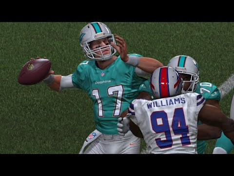 Mario Williams and Cameron Wake Wreak Havoc in Key Rivalry Game - Madden 15 Online Gameplay