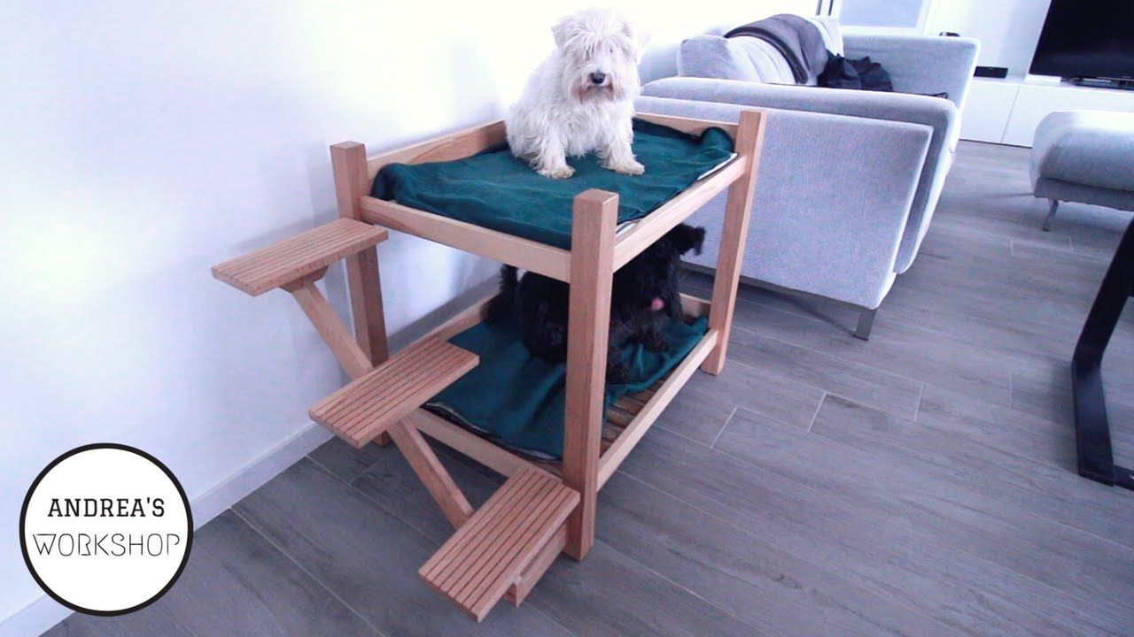 Dog Bunk Bed With Floating Stairs Diy Youtube