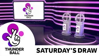 The National Lottery 'Thunderball' draw results from Saturday 19th October 2019