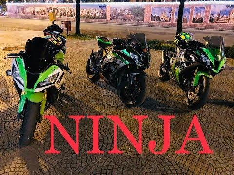 ZX10R Motovlog #17:  3 Chị em Ninja Zx10R dạo phố đêm Sài Gòn