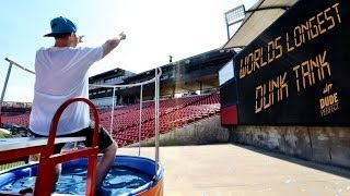 World's Longest Dunk Tank Throw | Dude Perfect