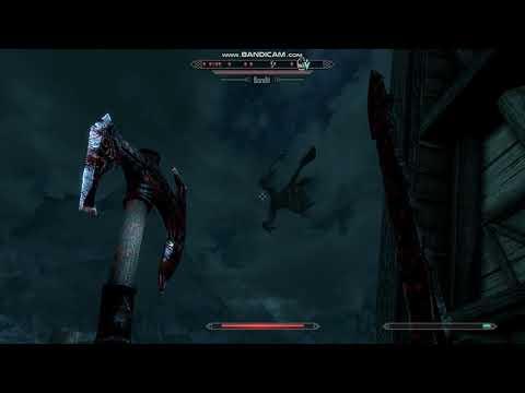 Skyrim 50+ Bandits and 12 Dragons