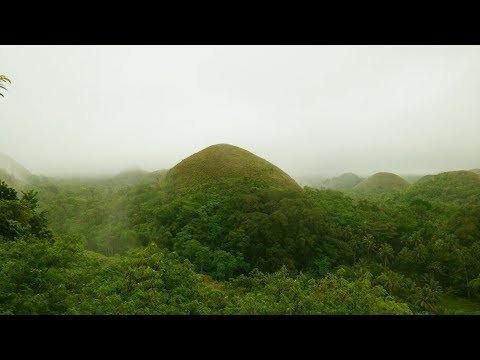 Philippines Chocolate Hills in Bohol island by drone