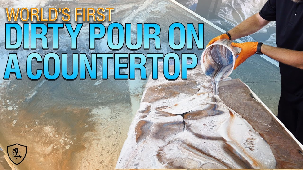 World's First Dirty Pour On A Countertop | Coat Over Existing Surfaces | Leggari Stone