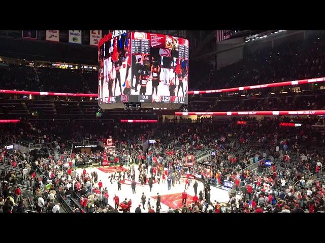 Hawks win 129-117 | John Collins Postgame Interview (2-29-20)