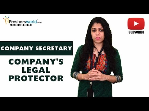Job Roles For COMPANY SECRETARY – CS,Stock Market,Shareholder,Legal affairs