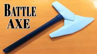 How to Make A Paper Tomahawk  Battle Axe