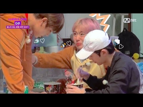 [eng sub] wanna one go ep 7 - 2nd round of fire noodles 🔥  (ft. woojin jihoon and guanlin)