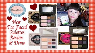 Too Faced Cats Eyes, Rock & Roll and Country Palettes Review & Demo ✿ Teatime Thursday