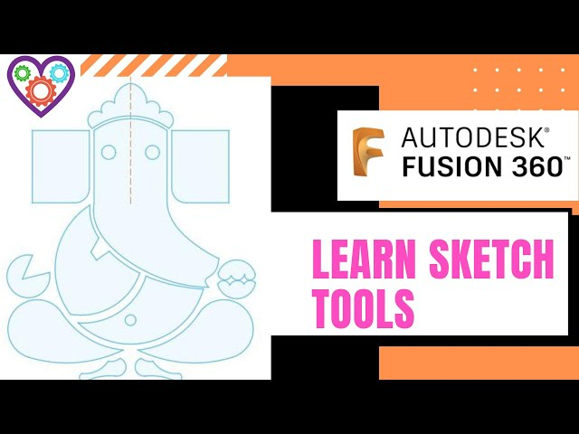 Learn sketch tools in Fusion 360 beginners tutorial -Mechatheart Fusion 360 Tutorials-