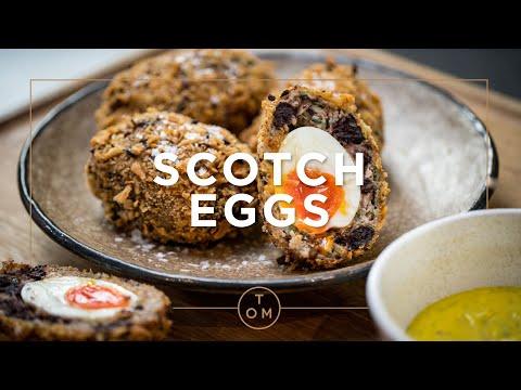 Cooking Proper Classics with Tom Kerridge: Black Pudding Scotch Eggs Recipe