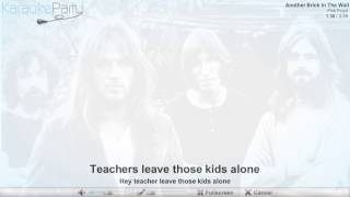 Pink Floyd - Another Brick In The Wall - karaoke
