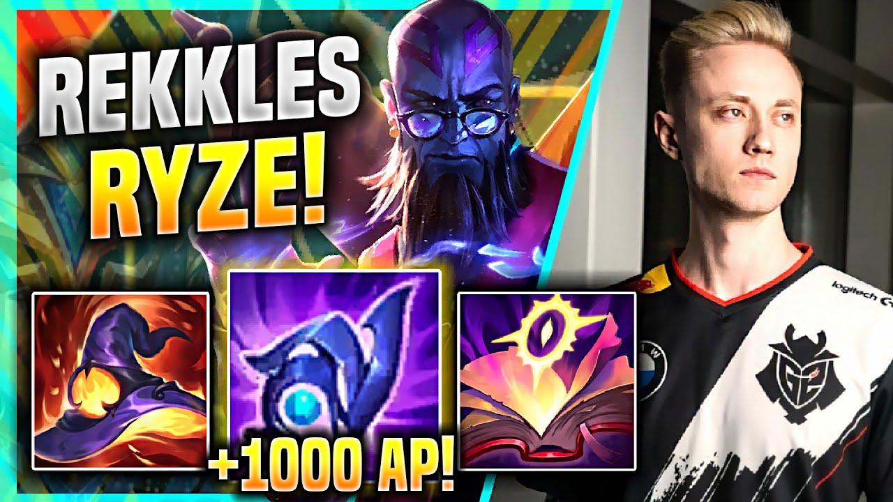 REKKLES PLAYS RYZE BOT WITH +1000 AP! - G2 Rekkles Plays Ryze ADC vs Jinx! | Rekkles Ryze Gameplay