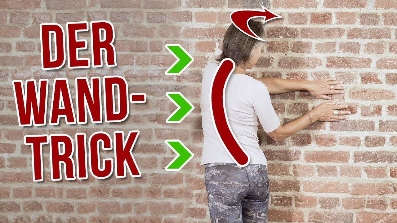 der 2 minuten trick gegen r ckenschmerzen stelle dich so an die wand youtube. Black Bedroom Furniture Sets. Home Design Ideas